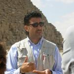 Elia lecturing at the Great Pyramid - Egypt